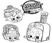 Printable Shopkins 8 Season World Vacation coloring pages
