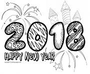 printable happy new year 2018 doodle coloring pages
