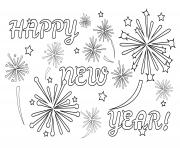 happy new year fireworks coloring pages