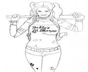 harley quinn daddys lil monster coloring pages