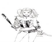 harley quinn by ebas daaofp7 coloring pages