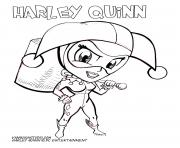 harley quinn cute cartoon dc entertainment coloring pages