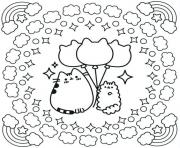 cinnamoroll pusheen coloring pages