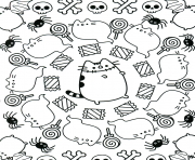 pusheen halloween coloring pages