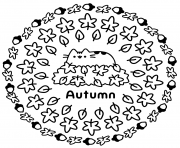 Pusheen Autumn coloring pages
