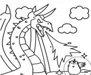 pusheen vs dragon coloring pages
