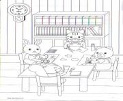 Printable Calico Critters Scan Schoolwork coloring pages