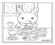 Printable carlico critters breakfest food coffee coloring pages