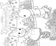 Printable sylvanian familys carlico critters easter coloring pages