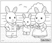 Printable calico critters beach shell coloring pages
