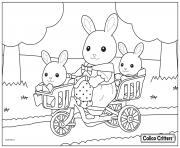 calico critters with babies bike