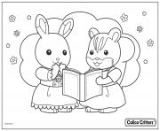 Printable calico critters read great story book coloring pages