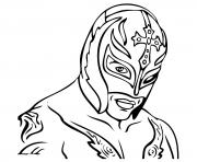 Printable Rey Mysterio WWE coloring pages
