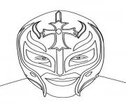 Printable Rey Mysterio Mask Face coloring pages
