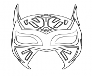 Printable Sin Cara Mask coloring pages