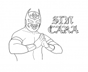 sin cara coloring pages