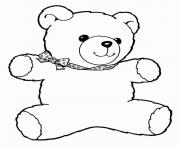 Printable teddy bear cartoon coloring pages