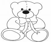 Printable Classic Teddy Bear coloring pages