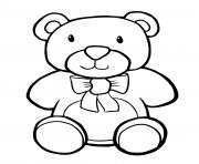 Printable Teddy Bear Simple Kids coloring pages