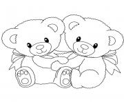 Printable baby teddy bear love heart coloring pages