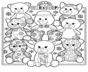 Printable build a bear coloring pages