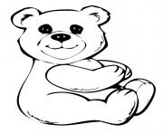Printable build a bear cute coloring pages