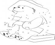 paddington connect the dots coloring pages
