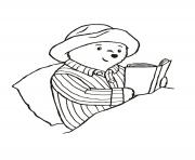 paddington reading in the bed coloring pages