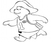 Paddington Bear Running Sport coloring pages
