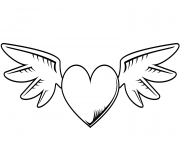 heart with wings valentines day