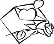 Printable my heart is in envelope coloring pages