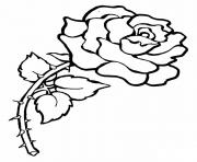 Printable Red Rose Flower Love coloring pages
