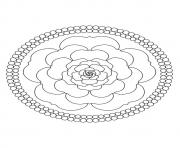 Printable A mandala rose a4 coloring pages