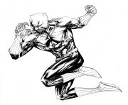 Printable Fighting Black Panther by SpiderGuile coloring pages