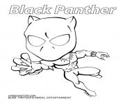 cartoon black panther marvel coloring pages