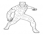 BLACK PANTHER Coloring Pages Color Online Free Printable