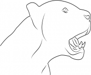 Black Panther Face Animal coloring pages