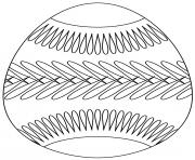 easter egg with belt pattern coloring pages