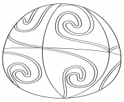 Printable ester egg with spiral pattern coloring pages
