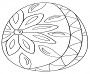decorative easter egg coloring pages