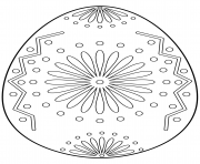 easter egg with floral ornament coloring pages