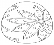 Printable fancy easter egg coloring pages