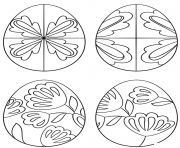 pysanky eggs coloring pages