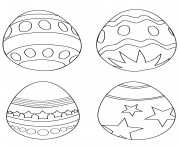 simple easter eggs coloring pages