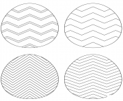 Printable chevron easter eggs coloring pages