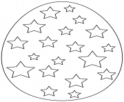 Printable easter egg with stars coloring pages