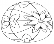 detailed easter egg coloring pages