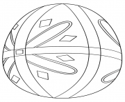 Printable pysanka easter egg coloring pages