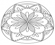 intricate easter egg coloring pages