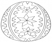 ornate easter egg coloring pages